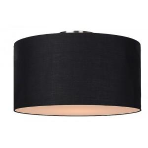 Deckenleuchte rund schwarz, Deckenlampe schwarz Lampenschirm, Durchmesser 45 cm
