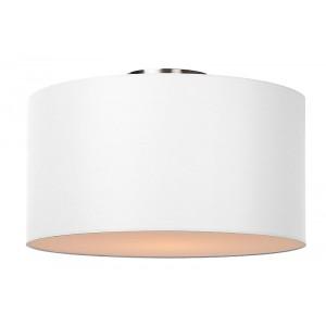 Deckenleuchte rund weiß, Deckenlampe weiß Lampenschirm, Durchmesser 45 cm