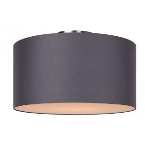 Deckenleuchte rund grau, Deckenlampe grau Lampenschirm, Durchmesser 45 cm