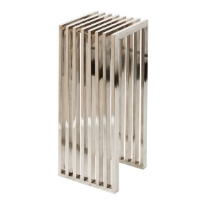 Säule verchromt aus Metall, 35 x 35 cm