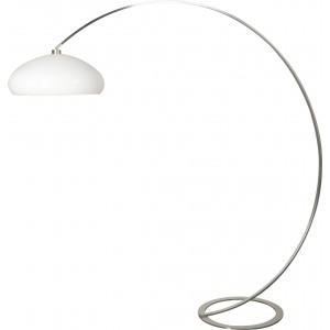 Design Bogenleuchte modern Edelstahl, Schirm rund