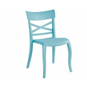 Gartenstuhl hellblau stapelbar, Stuhl Outdoor blau Kunststoff