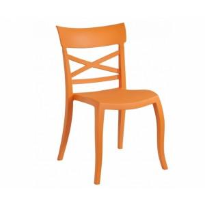 Gartenstuhl orange stapelbar, Stuhl orange Outdoor Kunststoff