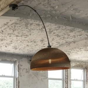 Deckenleuchte braun Karton, Deckenlampe Karton Lampenschirm, Durchmesser 55 cm