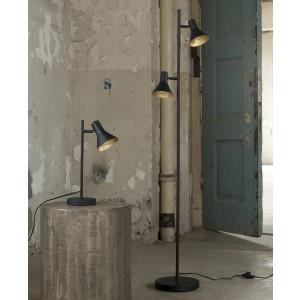 Stehlampe schwarz, Stehleuchte schwarz, Höhe 143 cm