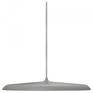 LED Pendeleuchte, LED Pendelampe silber-grau