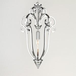 Kronleuchter silber, Pendelleuchte silber, Hängelampe silber, Lampe silber,  Ø 30 cm