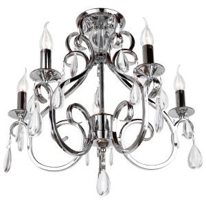 Deckenleuchte Silber, Deckenlampe Silber, Durchmesser 57 cm