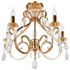 Deckenleuchte Gold, Deckenlampe Gold, Durchmesser 57 cm