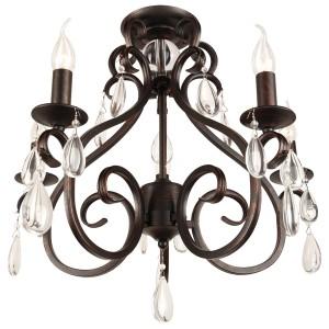 Deckenleuchte braun, Deckenlampe braun, Durchmesser 57 cm