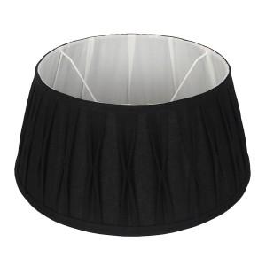 Lampenschirm schwarz rund,  Durchmesser 25 cm