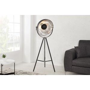 Stehleuchte Spot schwarz-silber, Stehlampe schwarz  Industrie