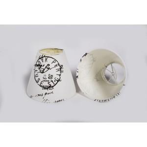 Aufsteckschirm weiß  KIemmschirm  Lampenschirm für Kronleuchter Form rund Ø 14 cm