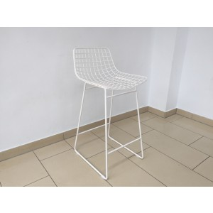 Barstuhl Metall weiß, Barstuhl weiß Metall, Sitzhöhe 67 cm