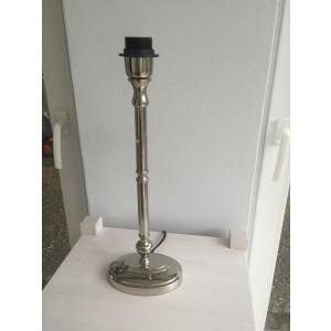 Lampenfuß oval silber Tischleuchte, Lampenfuß  verchromt oval, Höhe 44 cm