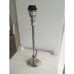 Lampenfuß silber oval Tischleuchte, Lampenfuß oval verchromt, Höhe 40 cm