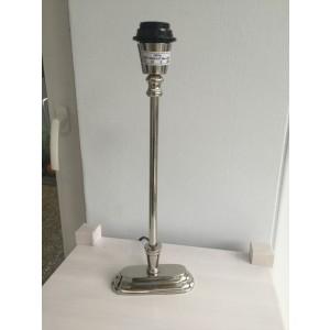 Lampenfuß silber Tischleuchte, Lampenfuß  verchromt, Höhe 40 cm