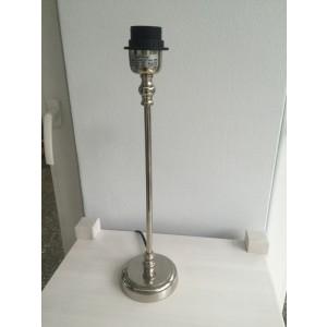 Lampenfuß rund silber Tischleuchte, Lampenfuß  verchromt rund, Höhe 44 cm