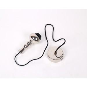 Lampen Aufhängung, Stoffkabel, Textilkabel für Hängelampe, schwarz-chrom