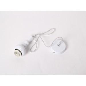 Lampen Aufhängung, Stoffkabel, Textilkabel für Hängelampe, weiß