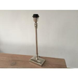 Lampenfuß silber, Tischlampe verchromt, Höhe 46 cm