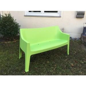Gartenbank grün, Sofa Kunststoff, Outdoor- Bank grün