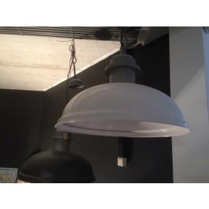 Hängeleuchte Metall weiß,  Hängelampe weiß Metall, Industrie Lampe weiß, Durchmesser 54 cm