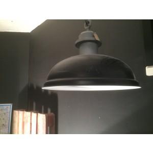 Hängeleuchte Metall schwarz,  Hängelampe schwarz, Industrie Lampe schwarz, Durchmesser 54 cm
