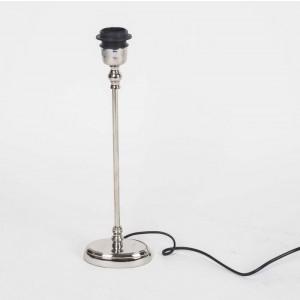 Ovaler Lampenfuß für eine Tischleuchte, verchromt, Höhe 40 cm
