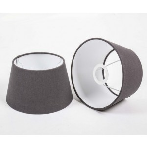 Lampenschirm rund, Farbe Grau, Ø 25 cm