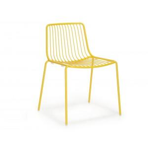 Stuhl gelb Metall stapelbar, Gartenstuhl gelb Metall