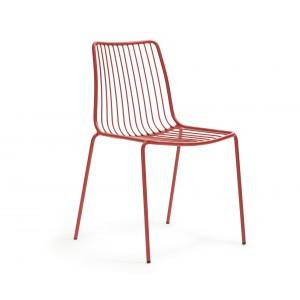Stuhl rot Metall stapelbar, Gartenstuhl rot Metall