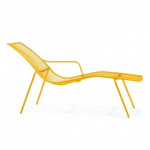 Gartenliege gelb Metall, Lounge - Liege gelb, Sonnenliege gelb, Metall Liege gelb