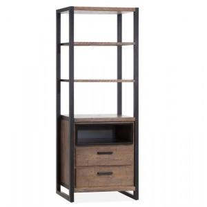 Bücherschrank braun Industrie, Schrank braun Industriedesign, Breite 76 cm