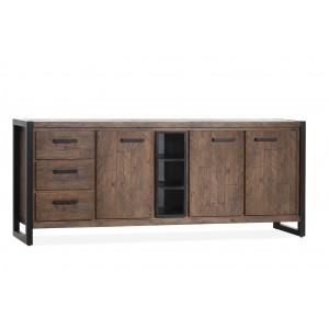 Sideboard braun Industrie, Anrichten braun Industriedesign, Breite 200 cm