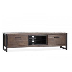 TV Schrank braun Industrie, Lowboard braun Industriedesign, Breite 190 cm