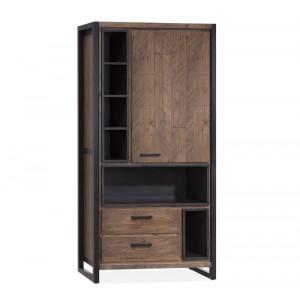 Schrank braun Industrie, Barschrank braun Industriedesign, Bücherschrank,  Breite 100 cm