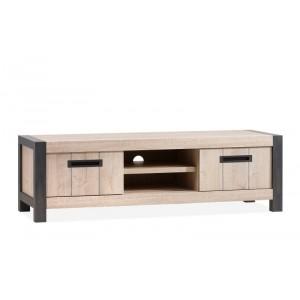 TV Schrank Industrie mit 2 Schubladen, Fernsehschrank Industriedesign, Breite 165 cm