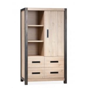 Schrank Industriedesign,  Bücherschrank Industriedesign, Breite 115 cm