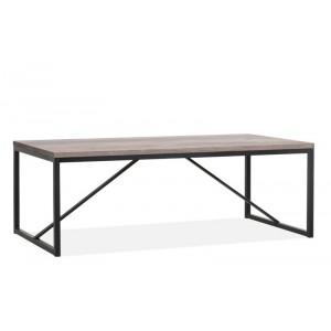 Esstisch Metall Industriedesign,  Tisch Industriedesign, Breite 220 cm