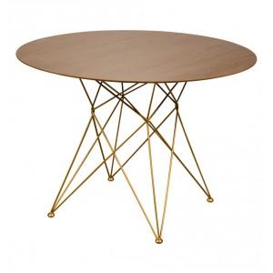 Tisch rund, Esstisch rund, runder Tisch Gold Gestell, Durchmesser 120 cm
