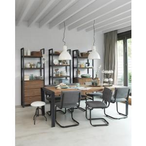 Tisch Industrie Holz Metall, Esstisch Industriedesign Metall, Länge 225 cm