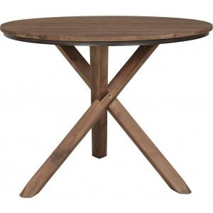 Runder Tisch Holz massiv, Esstisch rund, Tisch im Landhausstil, Durchmesser 100 cm