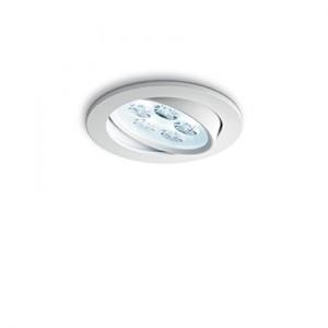 LED Strahler weiß, 3er Set LED Deckenleuchte weiß, LED Einbauleuchte weiß, Durchmesser 10,5 cm