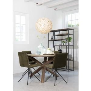 Runder Tisch Holz massiv, Esstisch rund, Tisch im Landhausstil, Durchmesser 130 cm