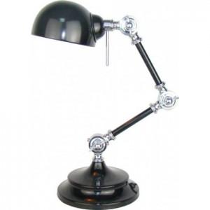 Tischleuchte schwarz-silber, Tischlampe schwarz Landhausstil