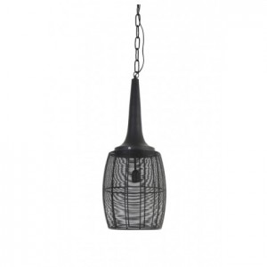 Pendelleuchte schwarz Metall, Pendellampe Draht-Metall, Hängeleuchte Metall schwarz, Ø 30 cm
