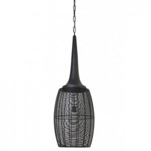 Pendelleuchte schwarz Metall, Pendellampe Draht-Metall, Hängeleuchte Metall schwarz, Ø 39 cm