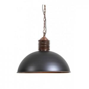 Pendelleuchte grau Industrie, Hängeleuchte grau-Kupfer Metall Industrie, Durchmesser 52 cm
