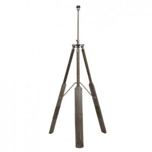Lampenfuß grau für eine Stehlampe, Stehlampe Dreifuß grau